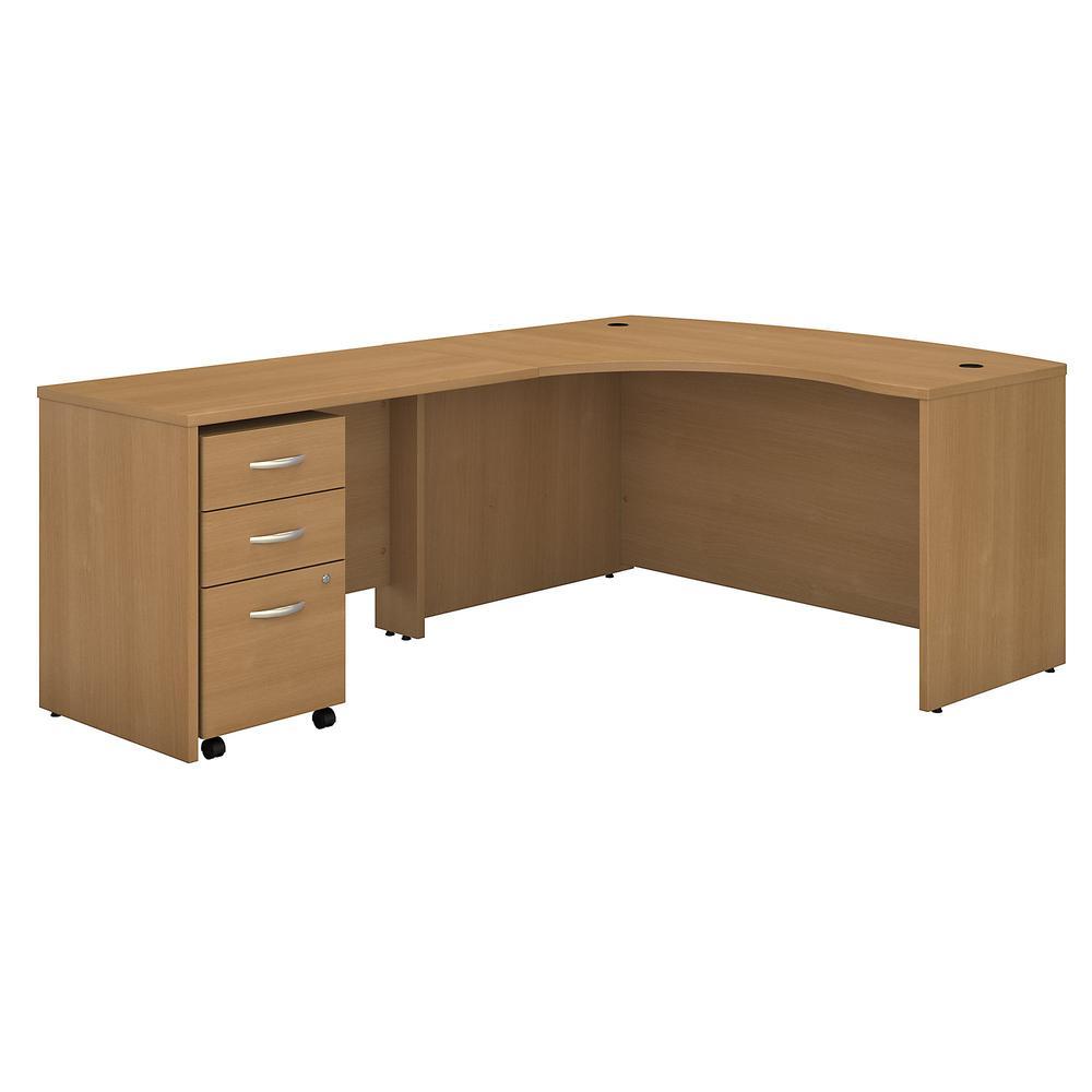 Series C Left Handed L Shaped Desk With Mobile File Cabinet