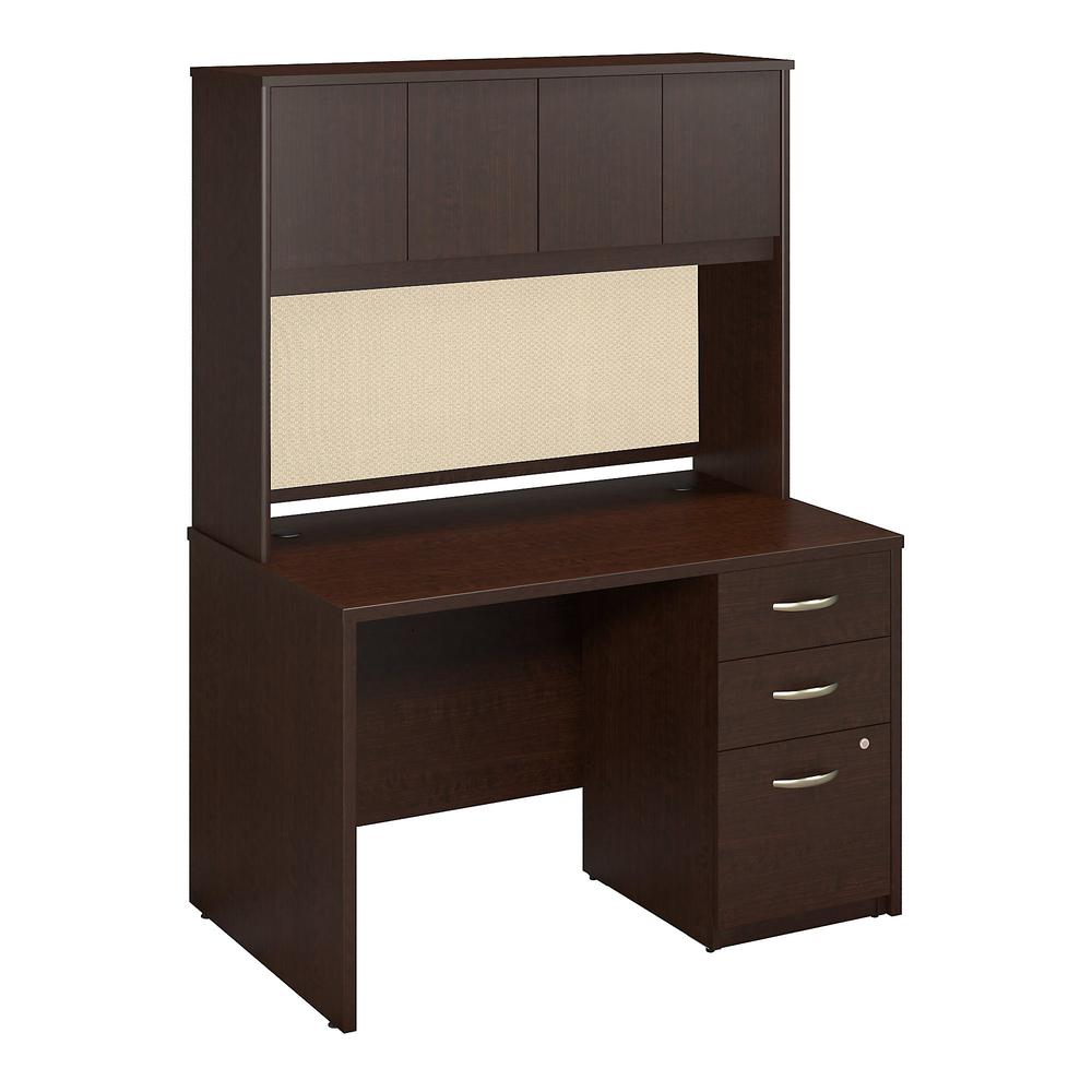 Series C Elite 48w X 30d Desk With Hutch And 3 Drawer Pedestal