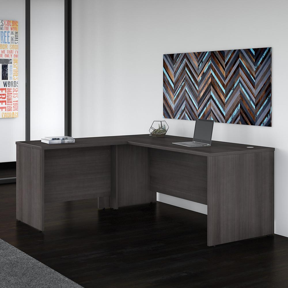 Studio C 72W x 30D L Shaped Desk with 42W Return, Storm Gray. Picture 2