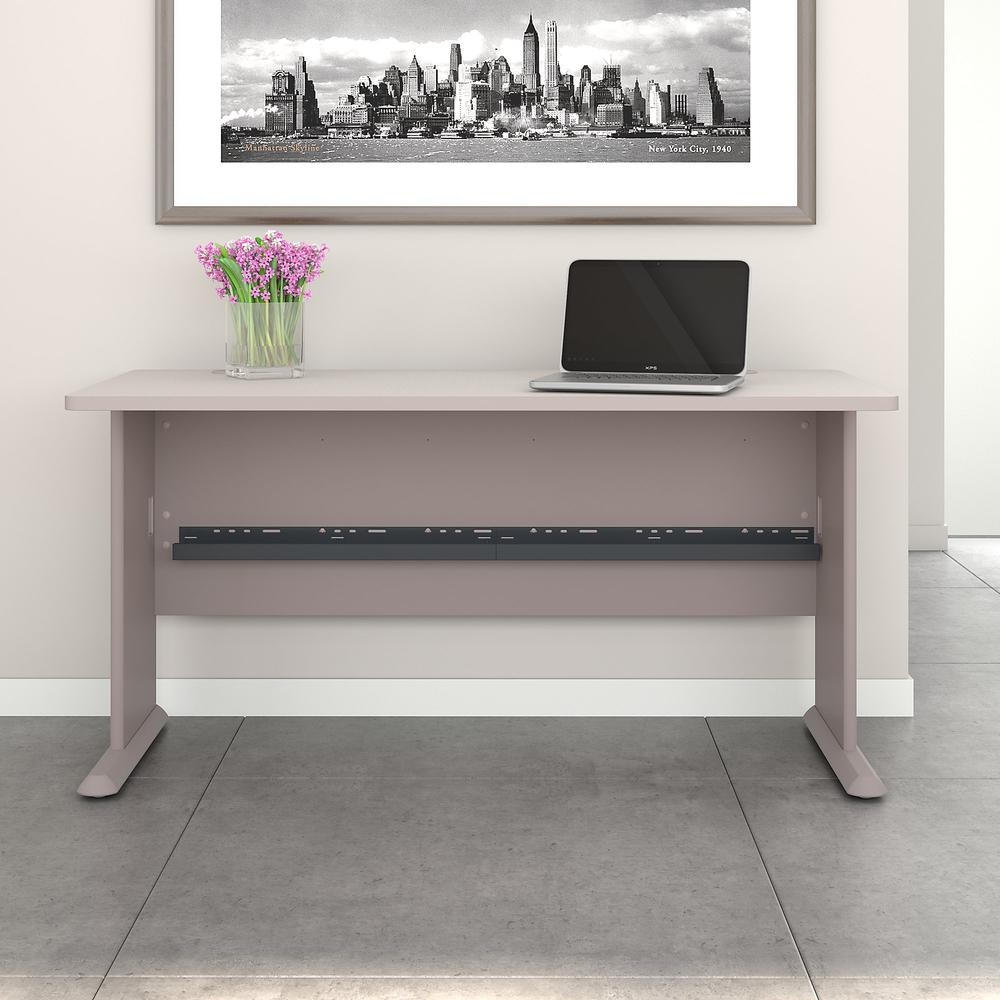 Bush Business Furniture Series A 60W Desk, Pewter. Picture 2