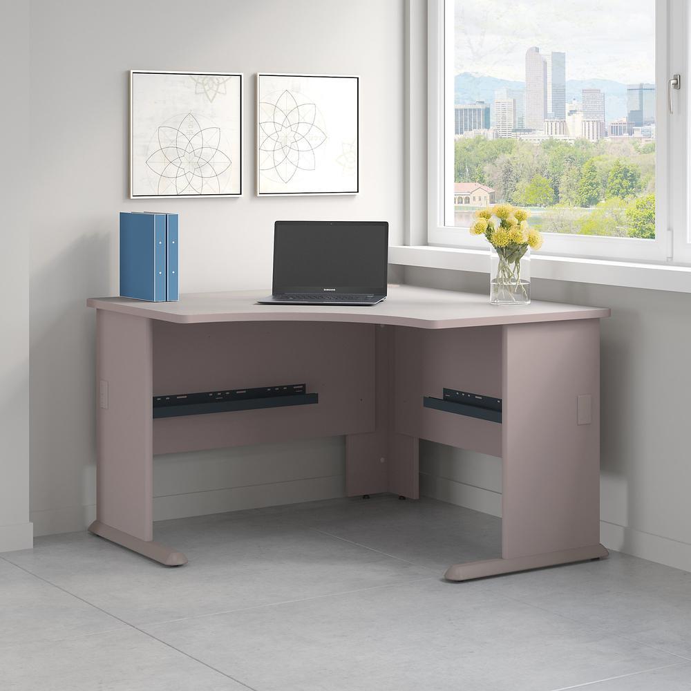Bush Business Furniture Series A 48W Corner Desk, Pewter. Picture 2