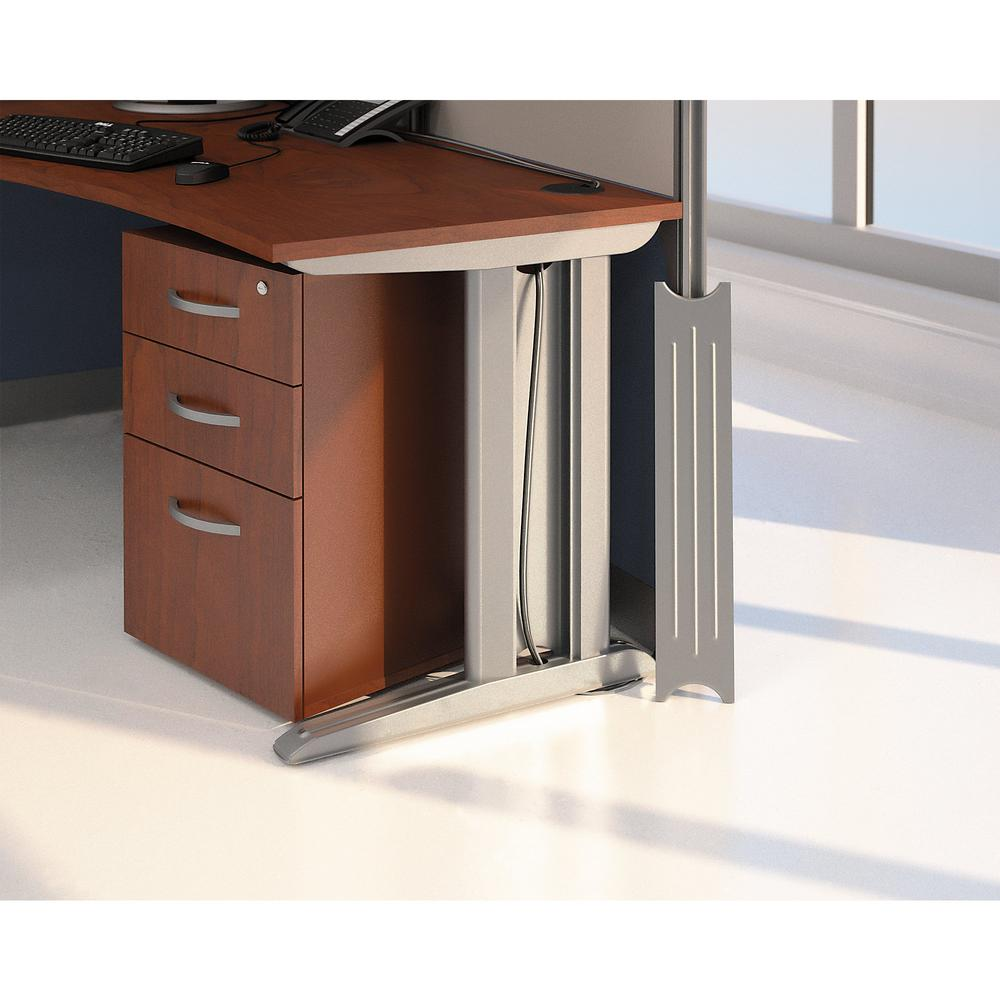 Bush Business Furniture Office in an Hour 89W x 65D U Shaped Cubicle Workstation with Storage, Hansen Cherry. Picture 6