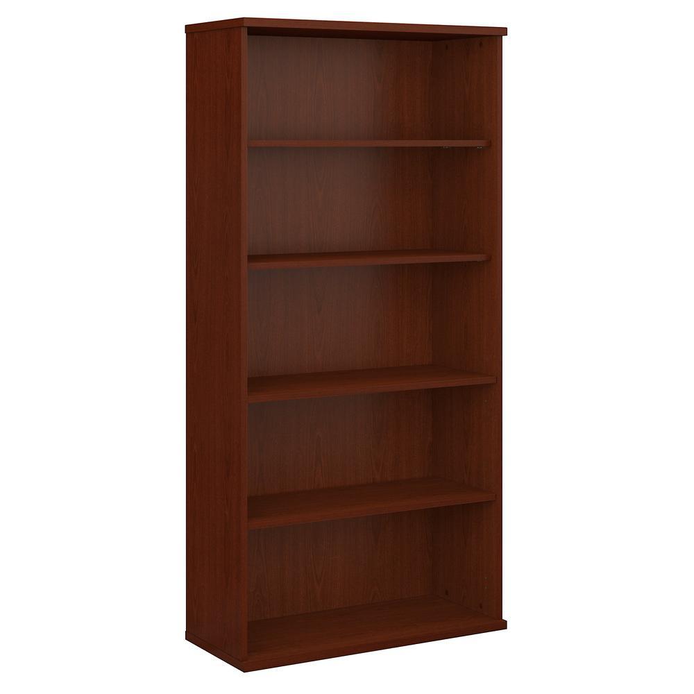Bush Business Furniture Series C 36W 5 Shelf Bookcase, Mahogany. Picture 1