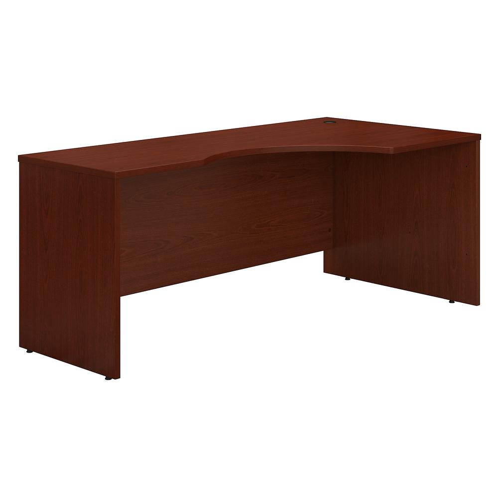 Bush Business Furniture Series C 72W Right Handed Corner Desk, Mahogany. Picture 1