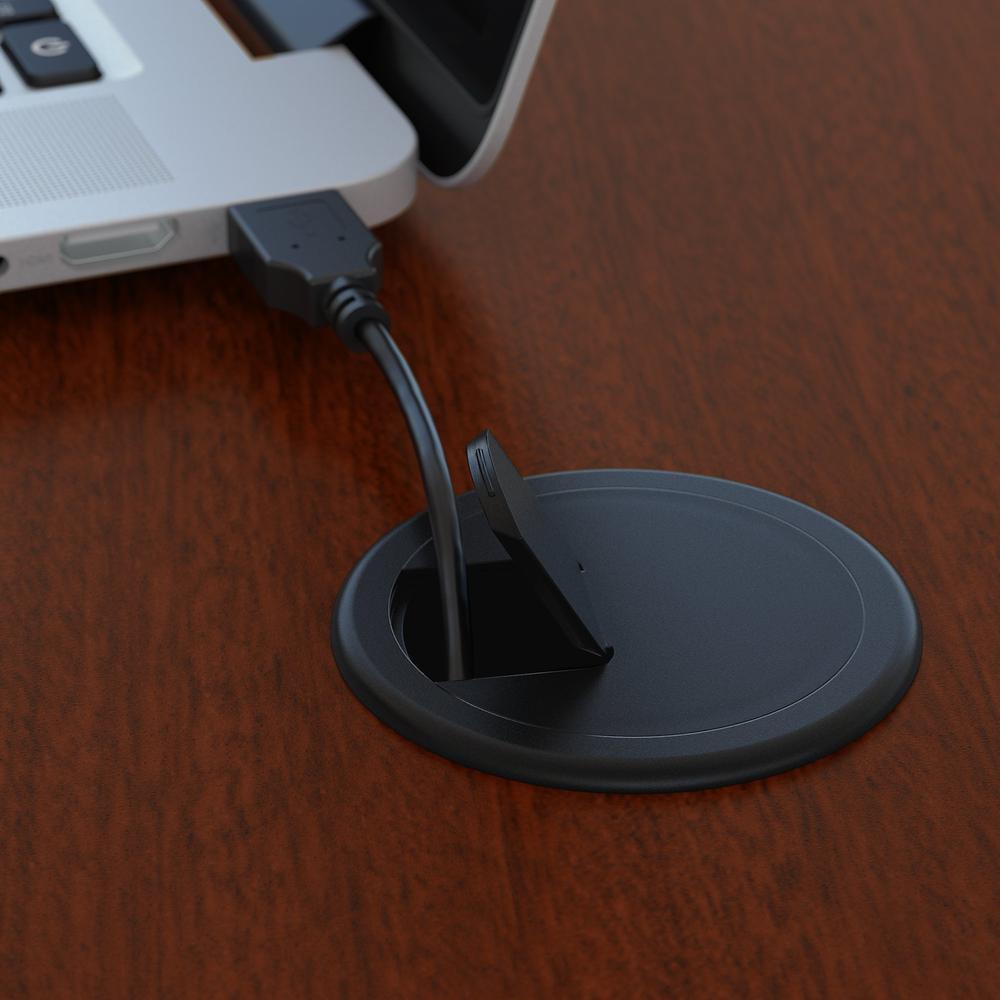 Bush Business Furniture Series C 72W Right Handed Corner Desk, Mahogany. Picture 3