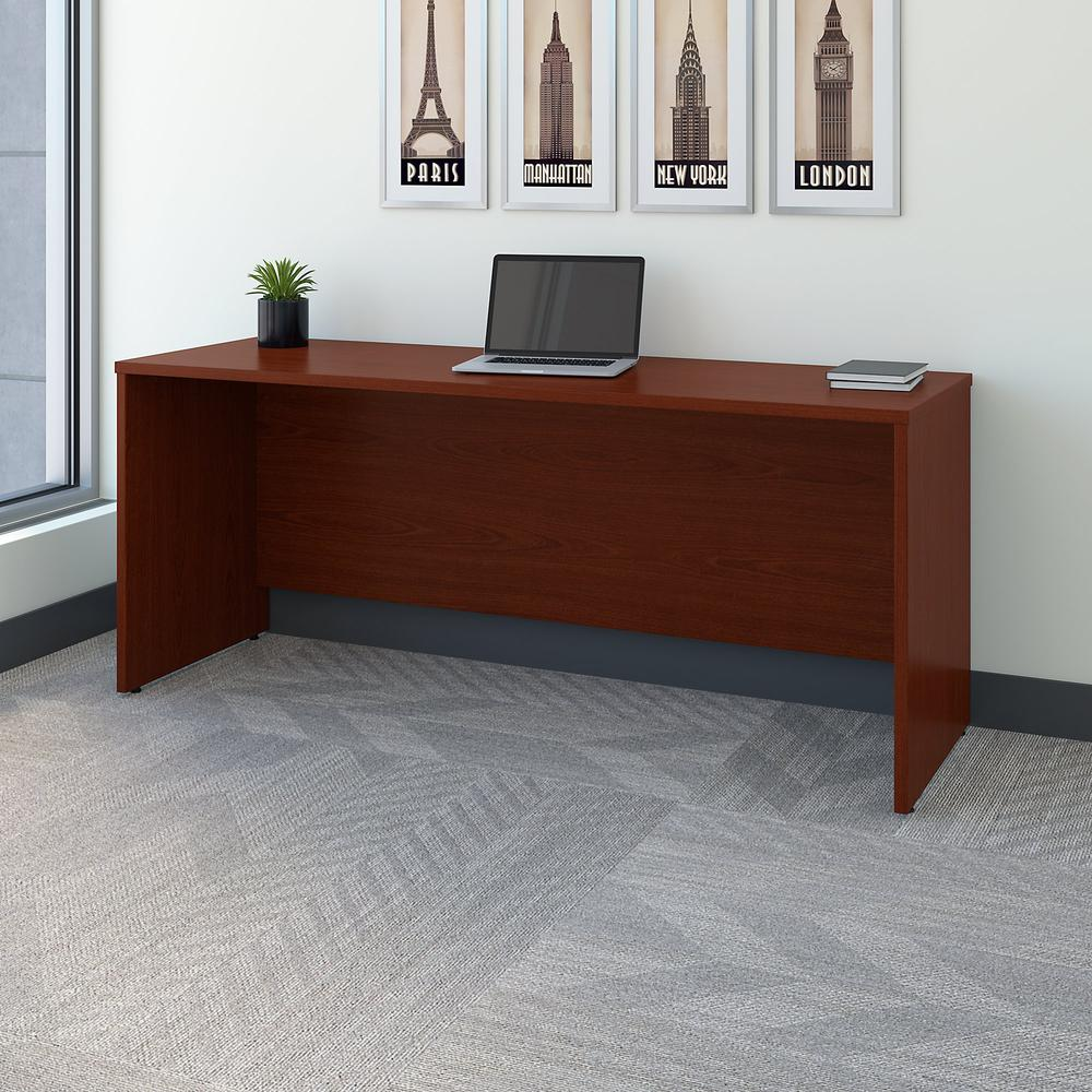 Bush Business Furniture Series C 72W x 24D Credenza Desk, Mahogany. Picture 2