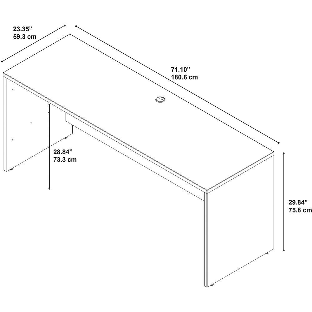Bush Business Furniture Series C 72W x 24D Credenza Desk, Mahogany. Picture 4