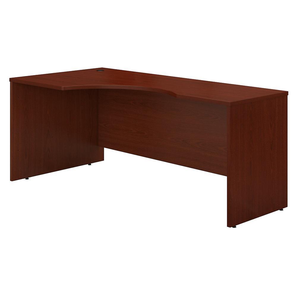 Bush Business Furniture Series C 72W Left Handed Corner Desk, Mahogany. Picture 1