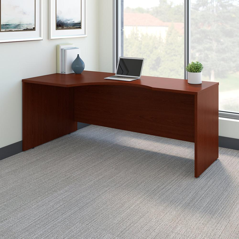 Bush Business Furniture Series C 72W Left Handed Corner Desk, Mahogany. Picture 2