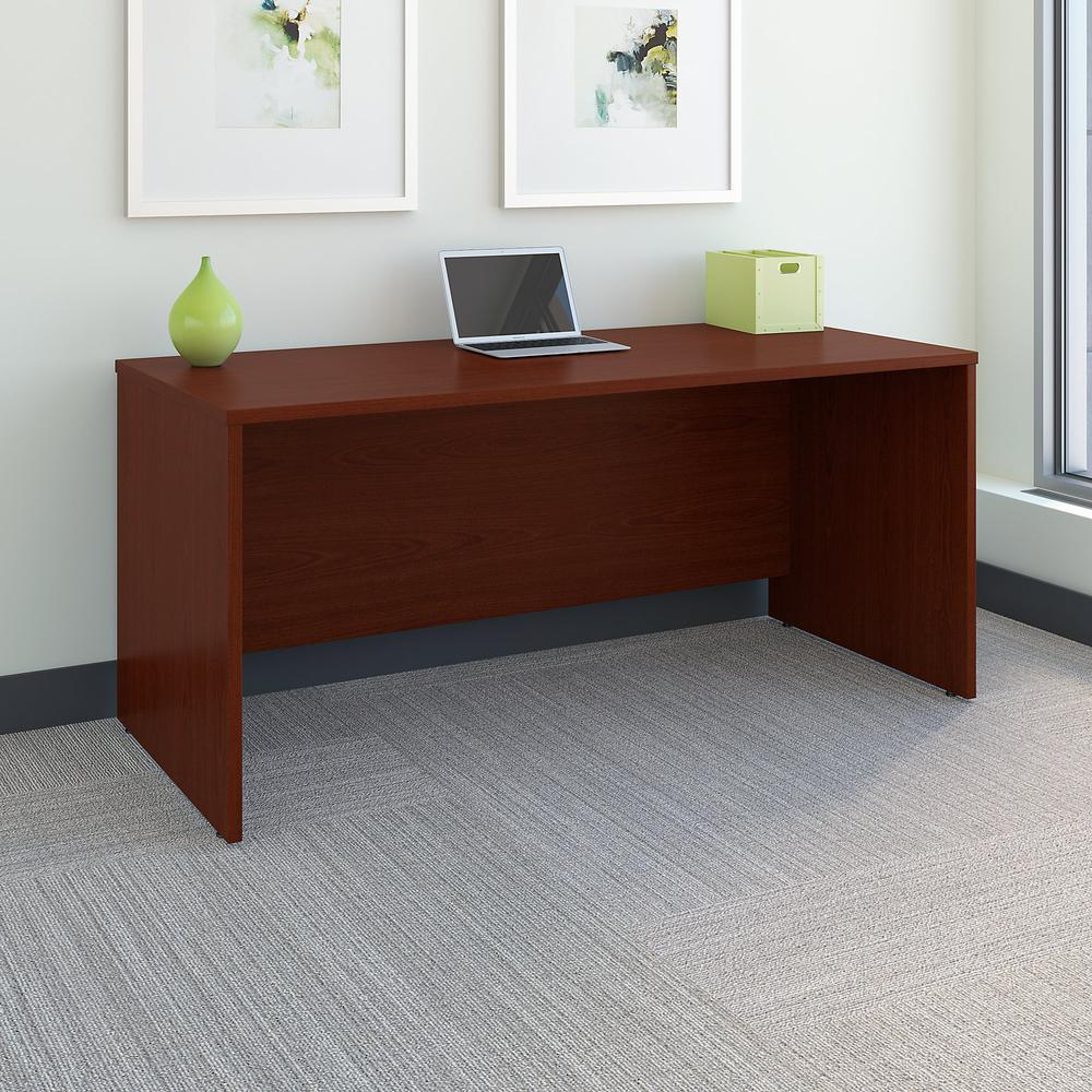 Bush Business Furniture Series C 66W x 30D Office Desk, Mahogany. Picture 2