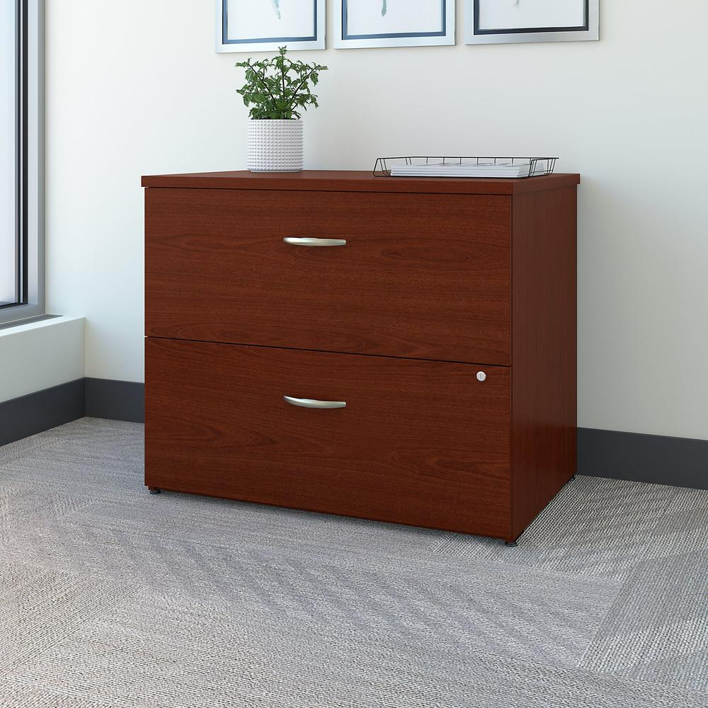Bush Business Furniture Series C Lateral File Cabinet, Mahogany. Picture 2