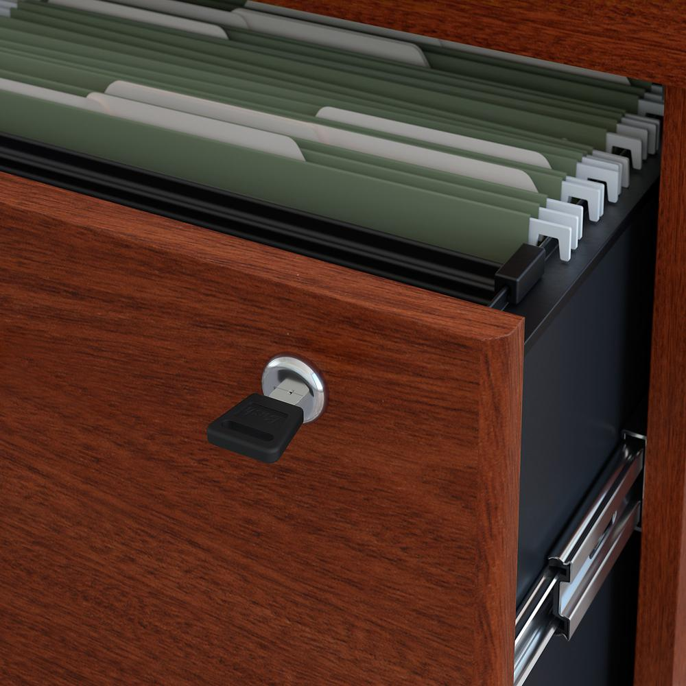 Bush Business Furniture Series C Lateral File Cabinet, Mahogany. Picture 3