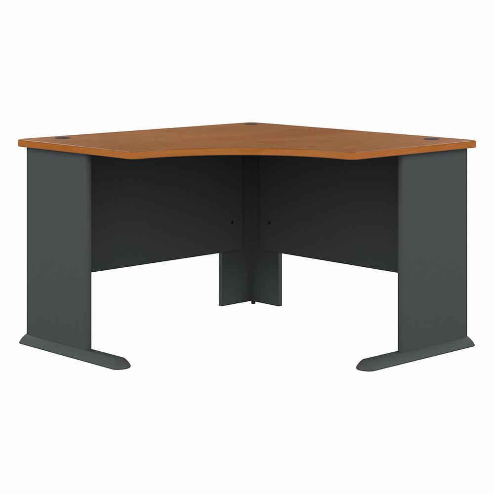 Bush Business Furniture Series A 48W Corner Desk, Natural Cherry/Slate. Picture 1
