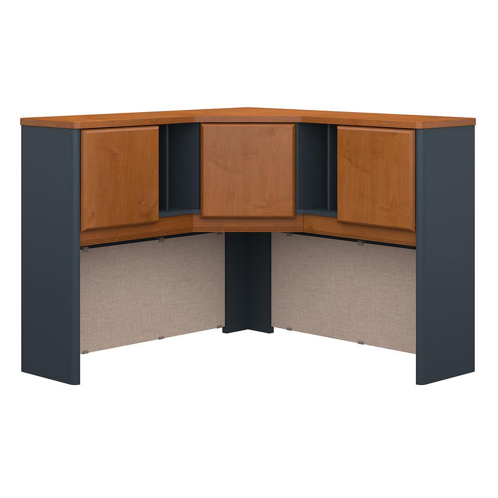 Bush Business Furniture Series A 48W Corner Hutch, Natural Cherry/Slate. Picture 1