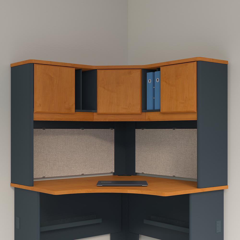 Bush Business Furniture Series A 48W Corner Hutch, Natural Cherry/Slate. Picture 2