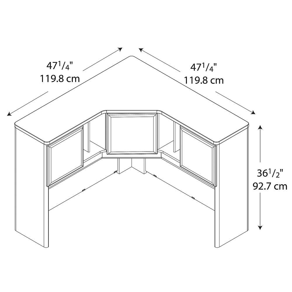 Bush Business Furniture Series A 48W Corner Hutch, Natural Cherry/Slate. Picture 4