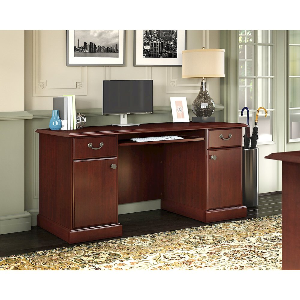 kathy ireland® Home by Bush Furniture Bennington Credenza Desk