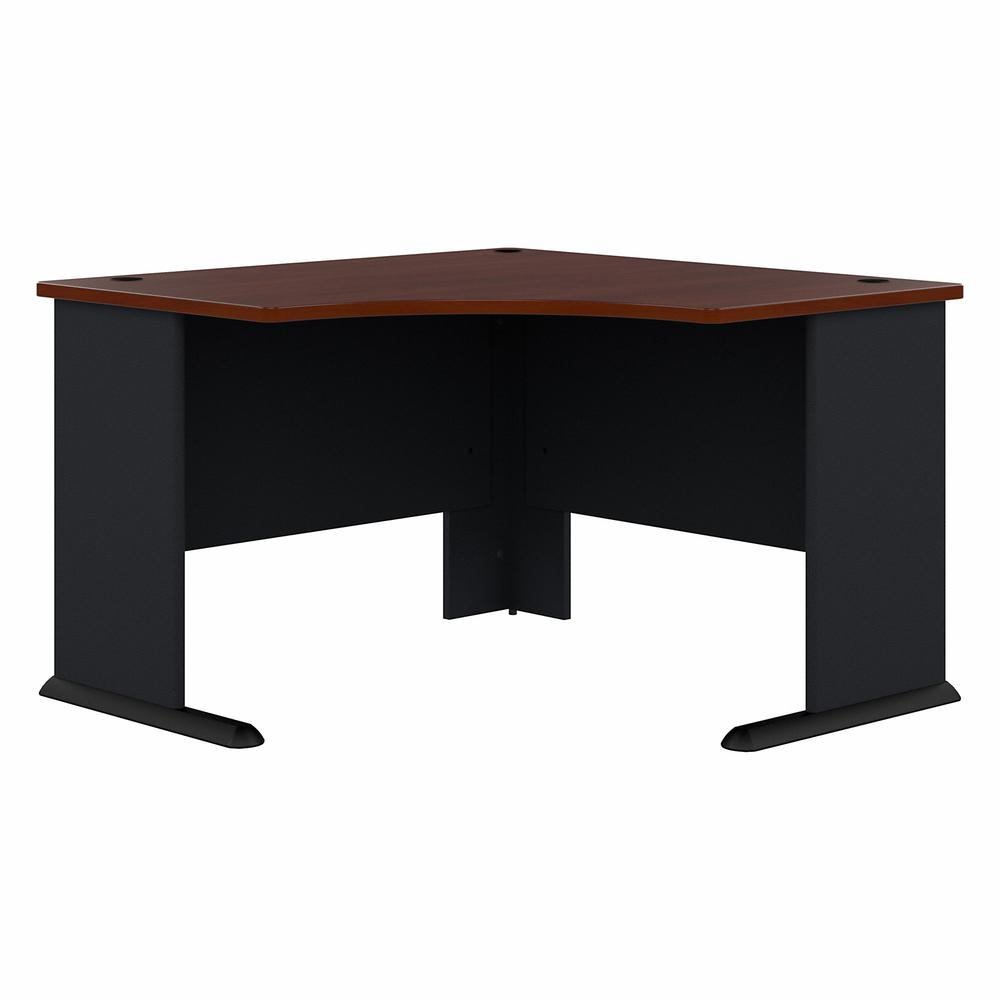 Bush Business Furniture Series A 48W Corner Desk, Hansen Cherry/Galaxy. Picture 1