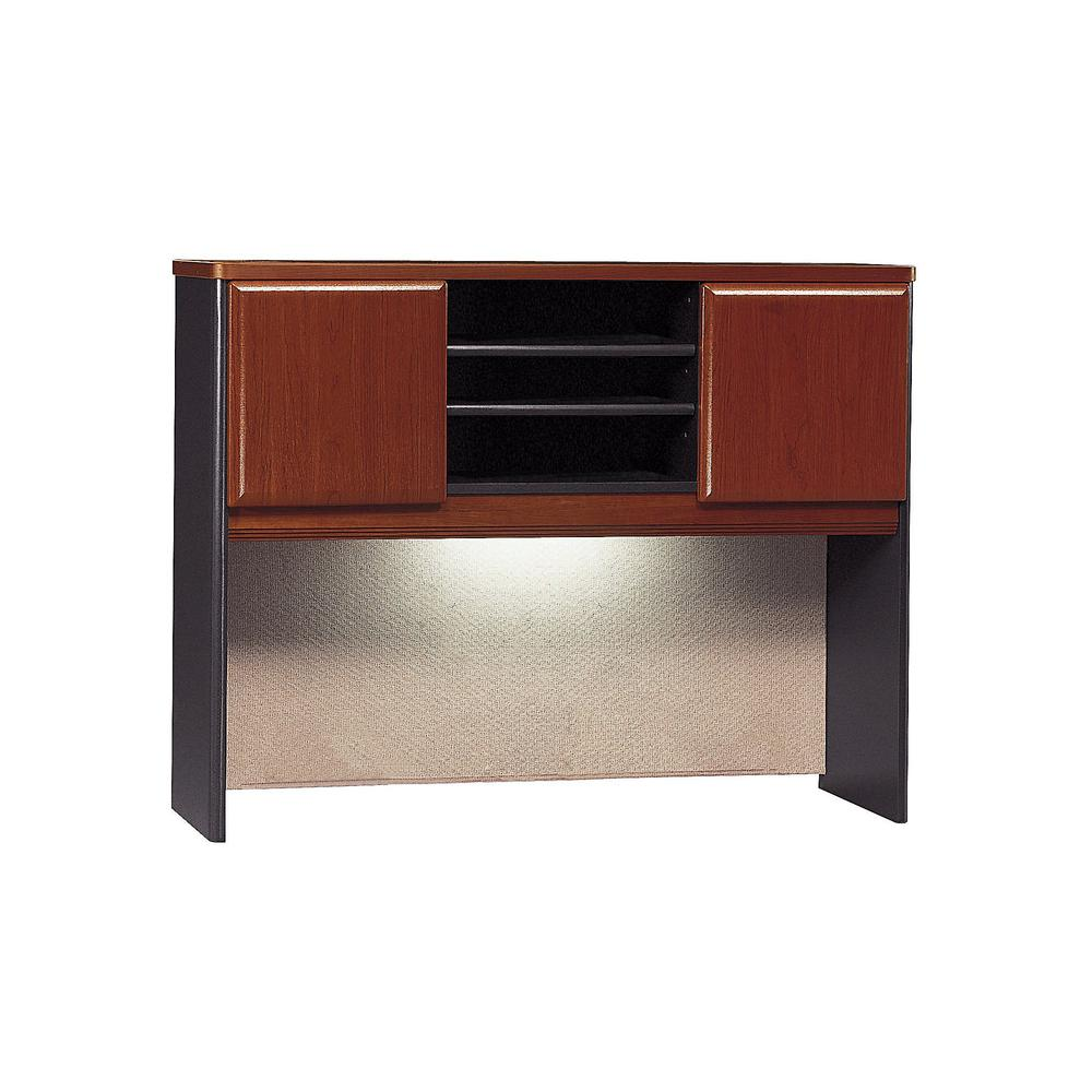 Bush Business Furniture Series A 48W Hutch, Hansen Cherry/Galaxy. Picture 1