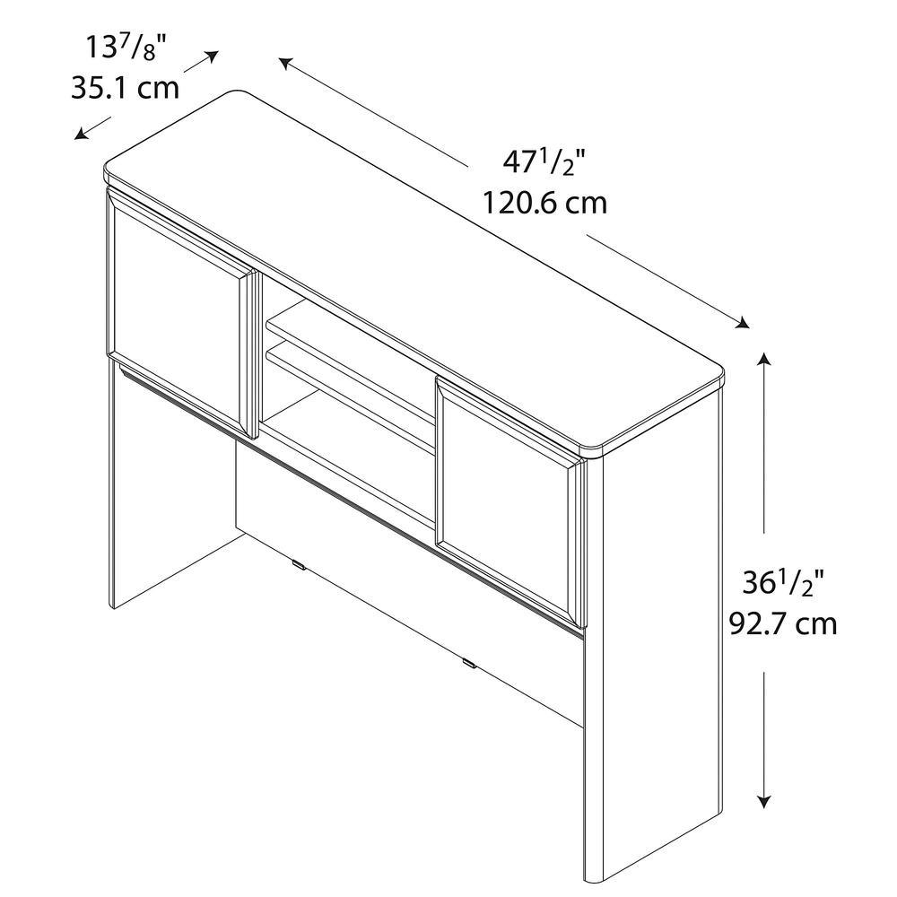 Bush Business Furniture Series A 48W Hutch, Hansen Cherry/Galaxy. Picture 2