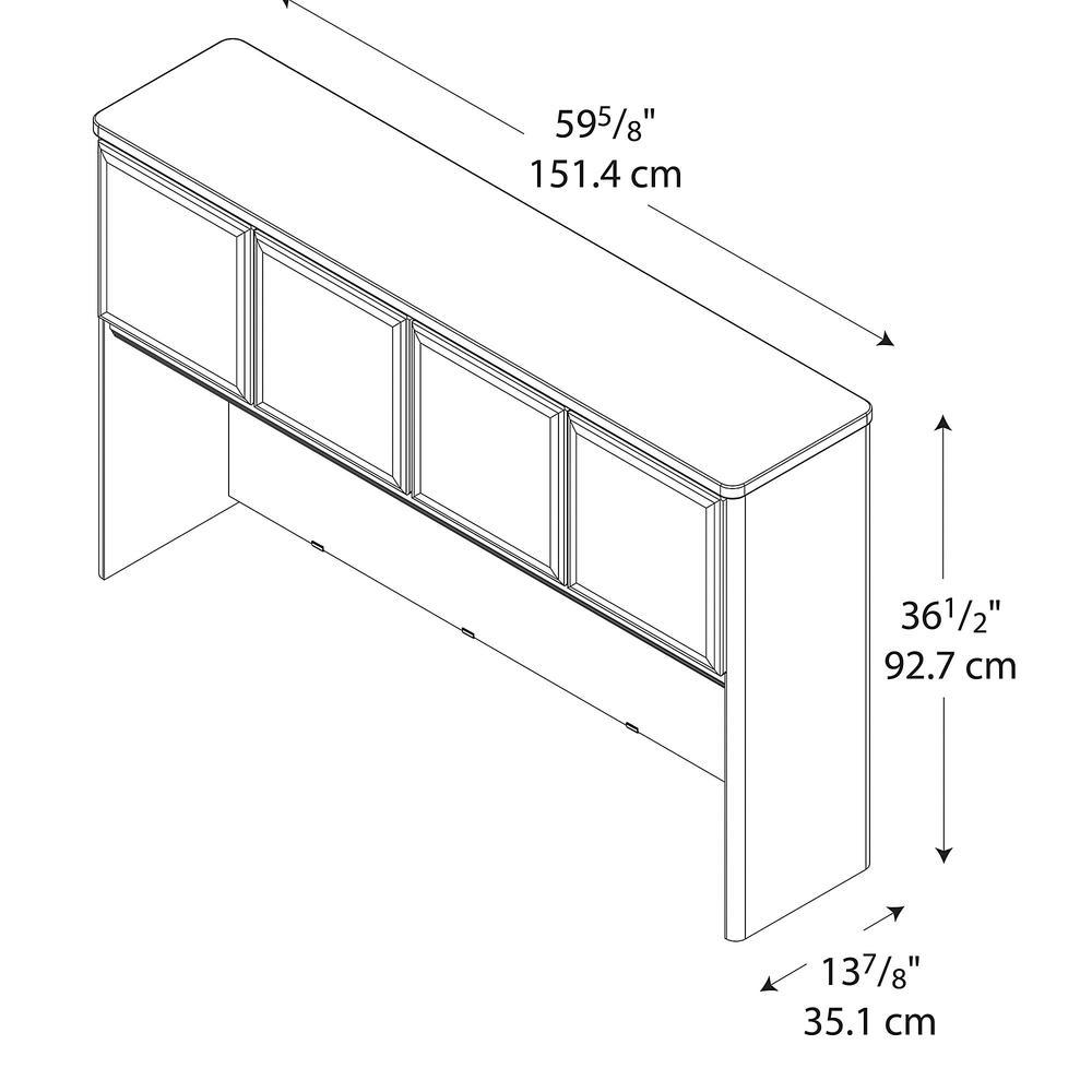 Bush Business Furniture Series A 60W Hutch, Hansen Cherry/Galaxy. Picture 2