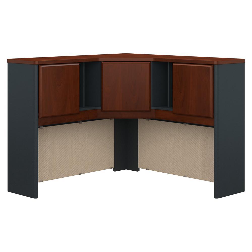 Bush Business Furniture Series A 48W Corner Hutch, Hansen Cherry/Galaxy. Picture 1