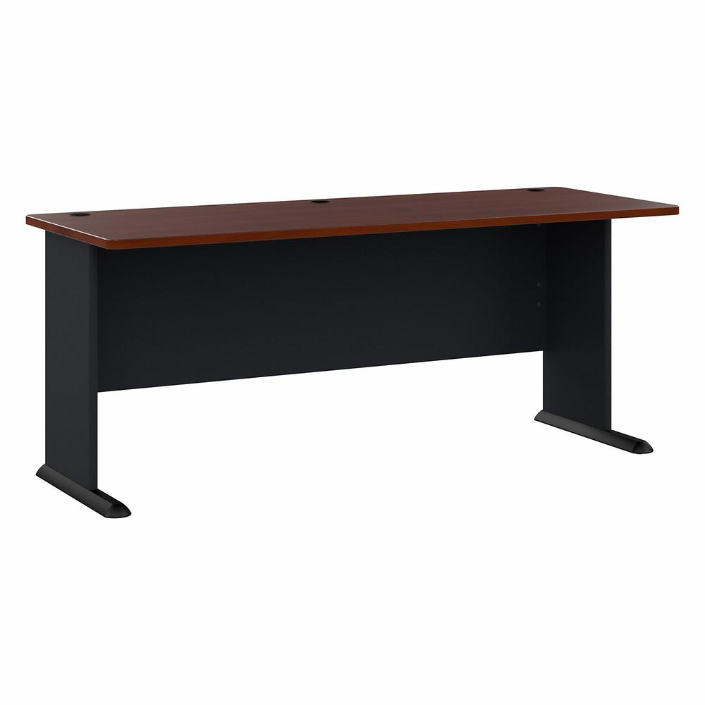 Bush Business Furniture Series A 72W Desk, Hansen Cherry/Galaxy. Picture 1