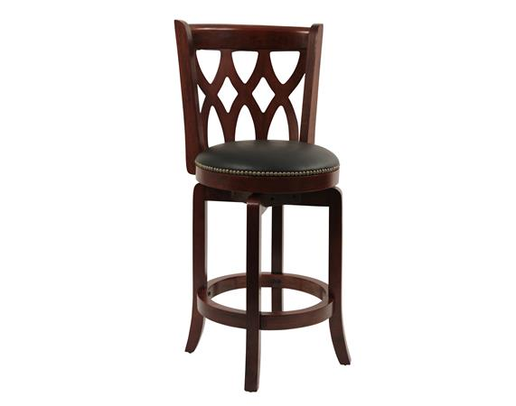 "24"" Cathedral Swivel Stool, Cherry"