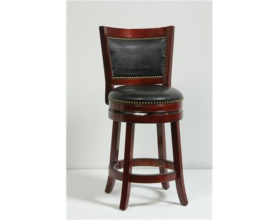 "24"" BRISTOL SWVL STOOL [CHERRY]. Picture 1"