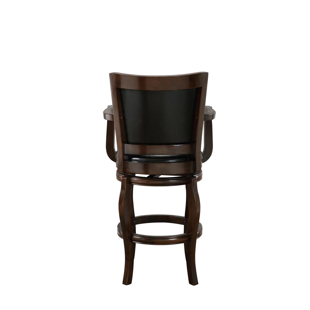 "29"" Jones Memory Swivel Stool, Cappuccino. Picture 3"