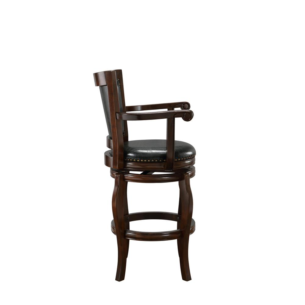"29"" Jones Memory Swivel Stool, Cappuccino. Picture 9"
