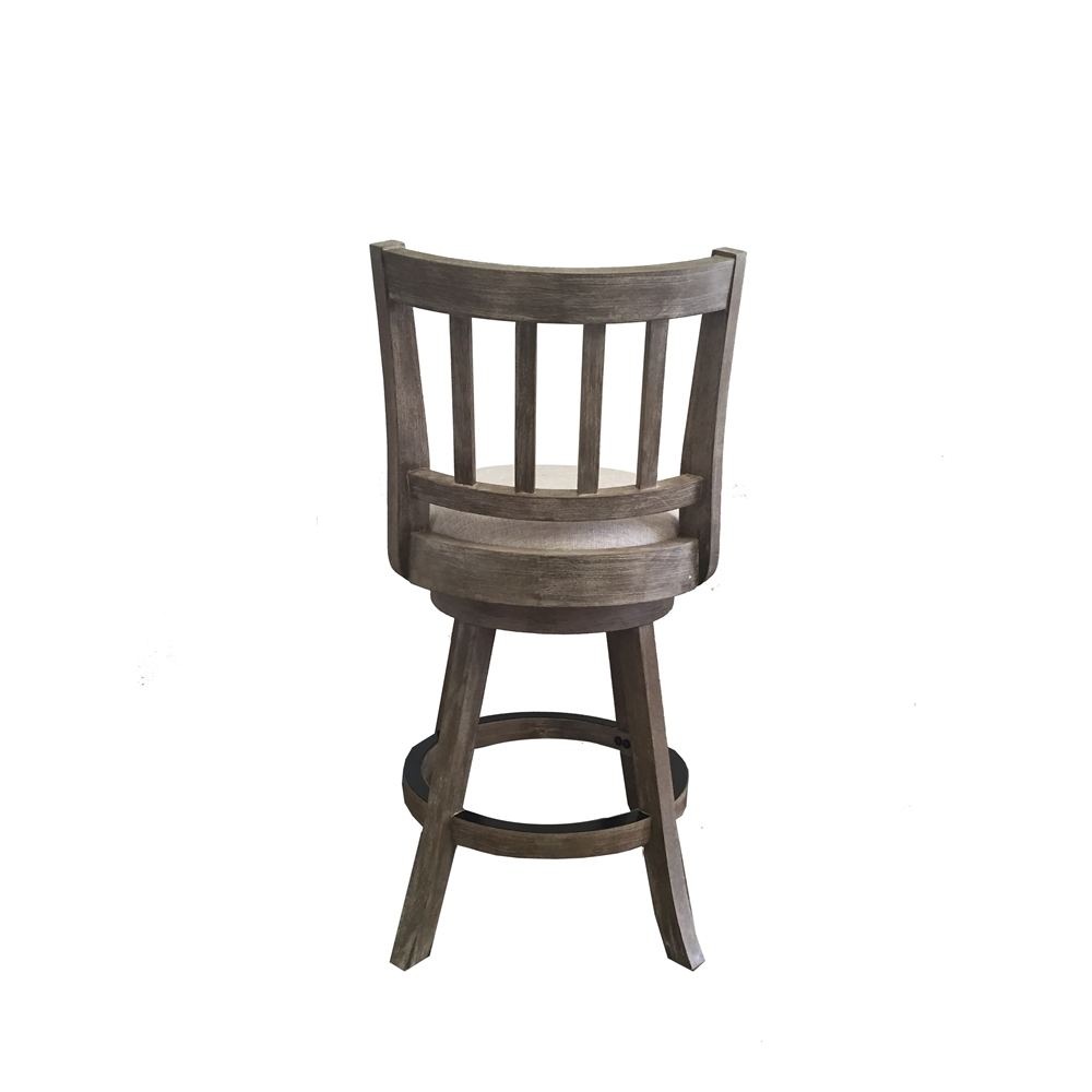 24 Quot Sheldon Counter Stool Driftwood Gray Wire Brush And Ivory