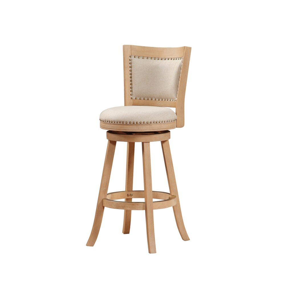 """29"""" Melrose Barstool , Driftwood Creme Wire-Brush and Ivory. Picture 3"""
