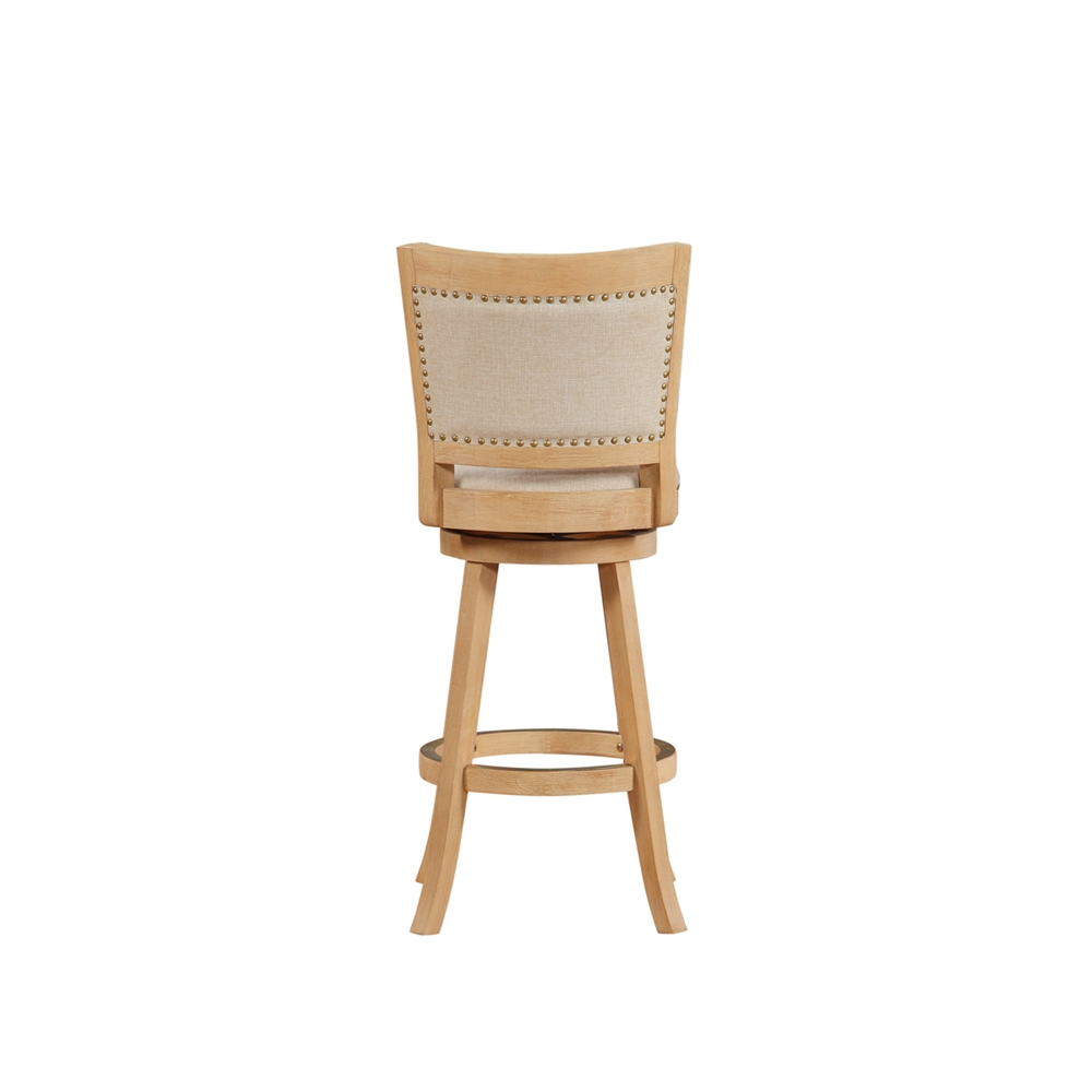 """29"""" Melrose Barstool , Driftwood Creme Wire-Brush and Ivory. Picture 4"""