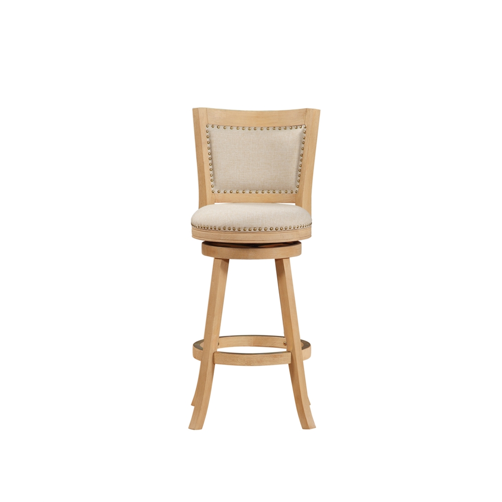 """29"""" Melrose Barstool , Driftwood Creme Wire-Brush and Ivory. Picture 6"""