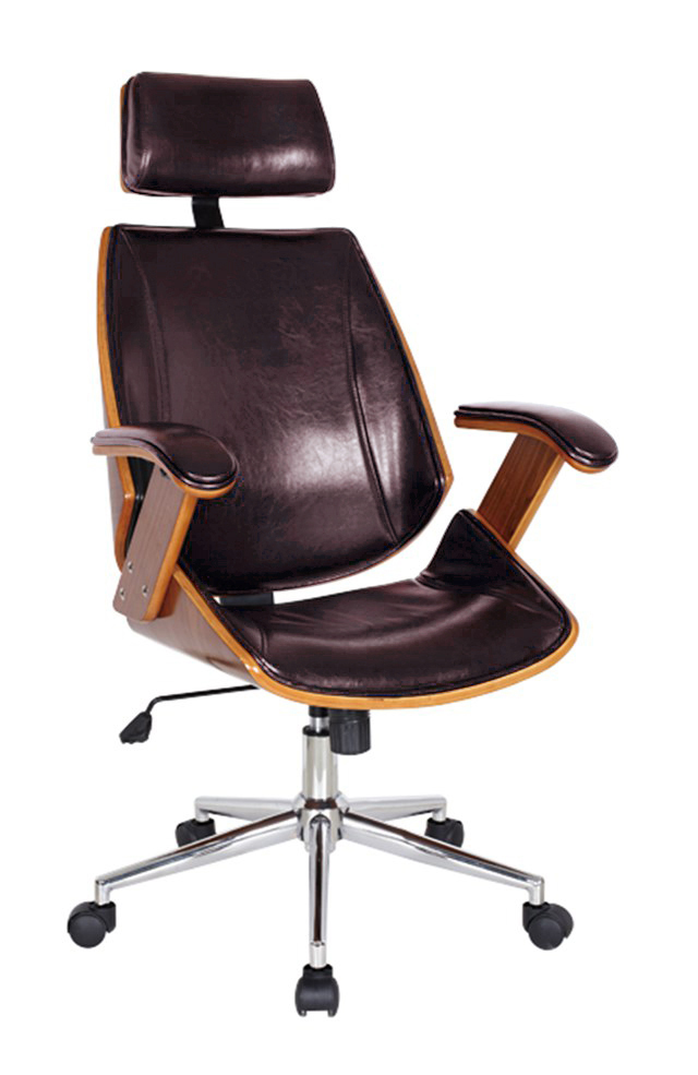 Lucas Desk Chair, Brown. Picture 1