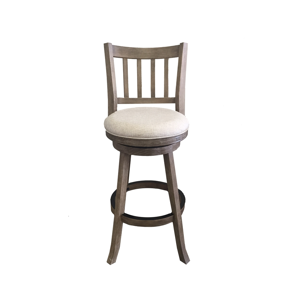 29 Quot Sheldon Barstool Driftwood Gray Wire Brush And Ivory