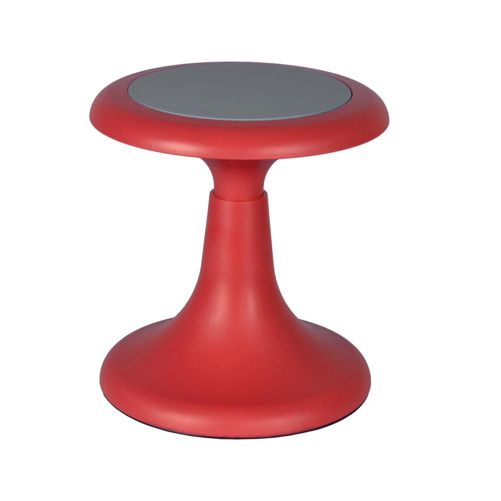 "Glow 13"" Stool, Red. Picture 1"