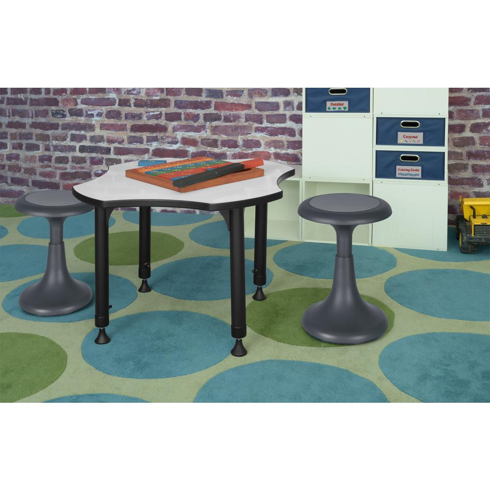 """Glow 17"""" Wobble Stool, Grey. Picture 2"""
