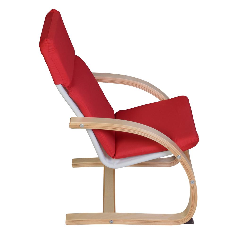 Niche Mia Bentwood Children's Reclining Chair - Natural/ Red