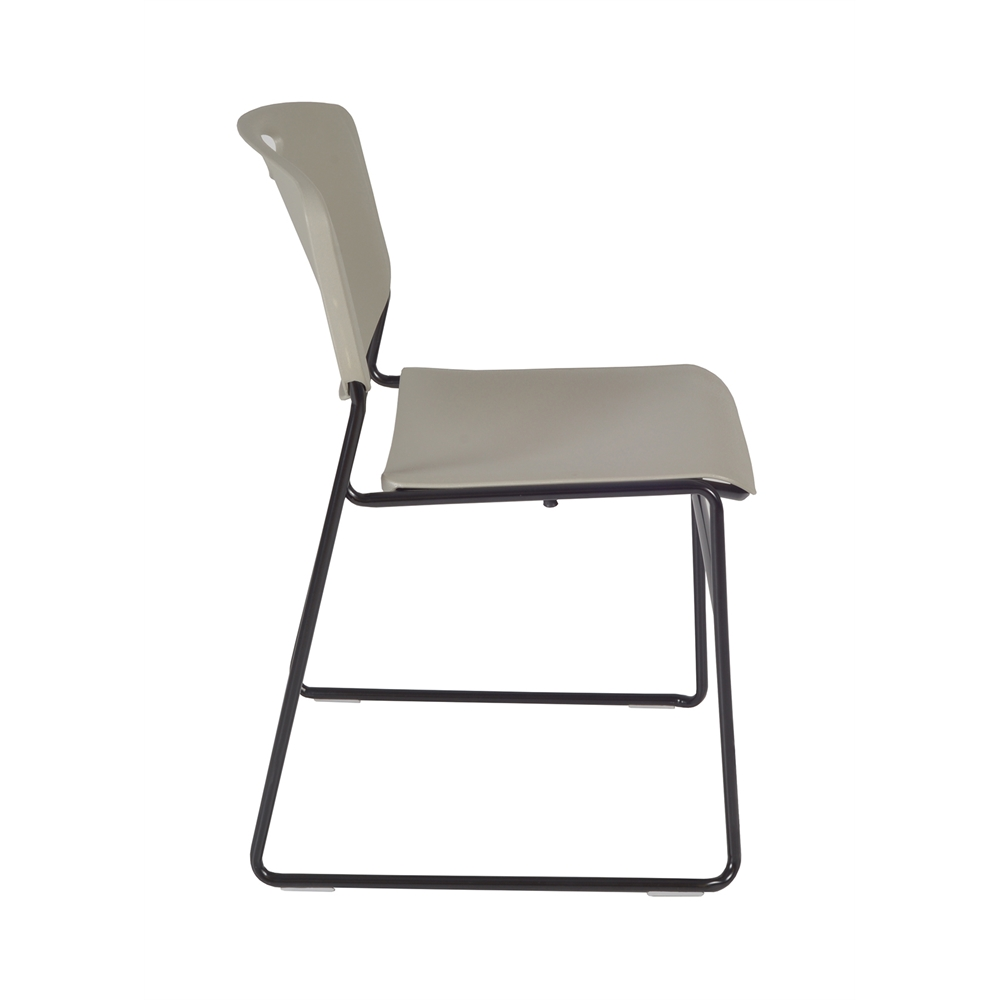 """Cain 36"""" Square Breakroom Table- Cherry & 4 Zeng Stack Chairs- Grey. Picture 7"""
