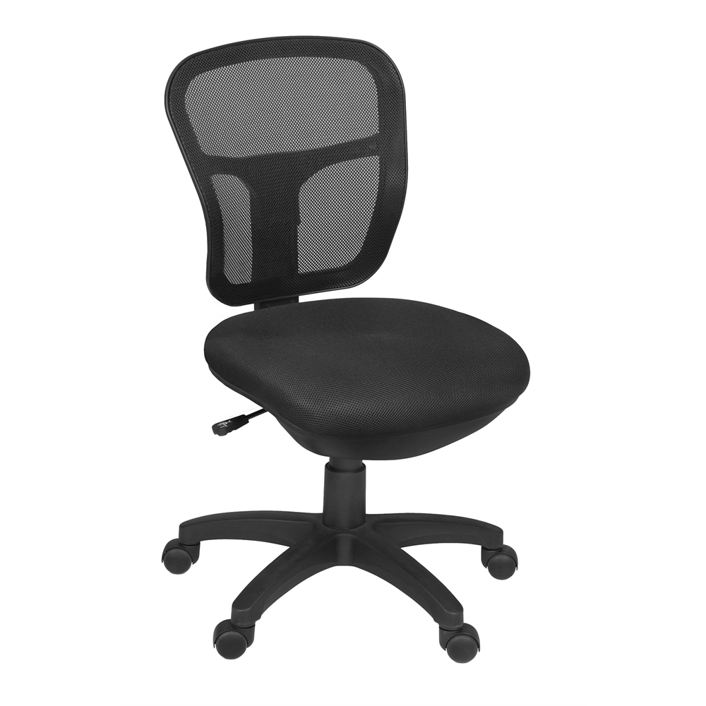 Harrison Armless Swivel Chair- Black. Picture 1