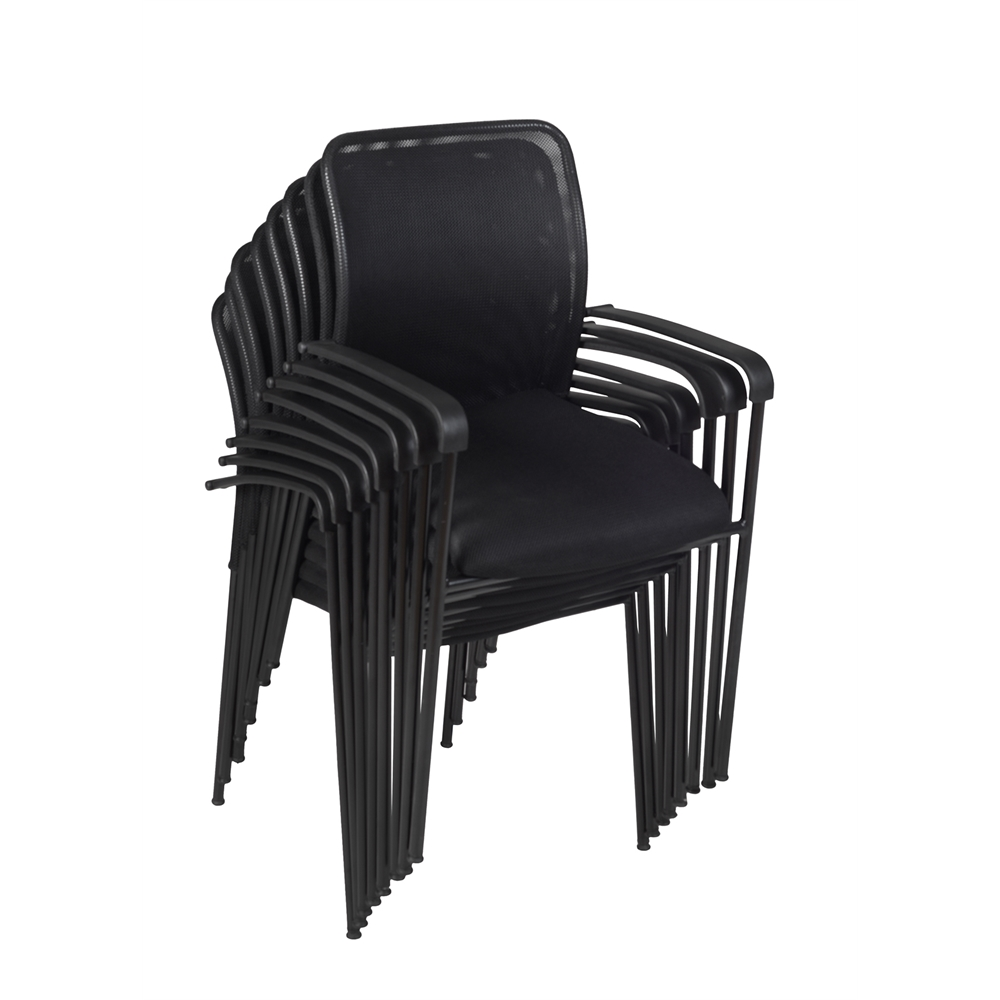 Mario Stack Chair (8 pack)- Black. Picture 1