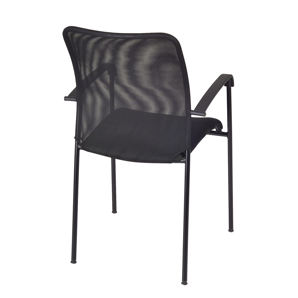 Mario Stack Chair (8 pack)- Black. Picture 2
