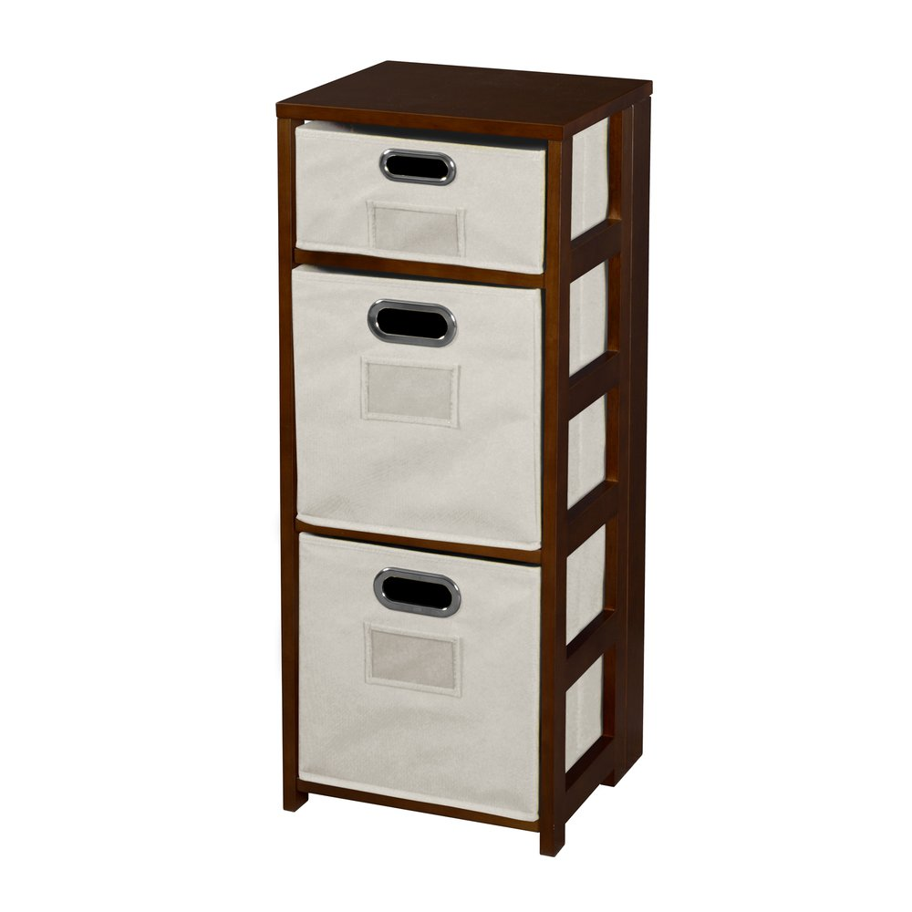 Flip Flop 34 Square Folding Bookcase With Fabric
