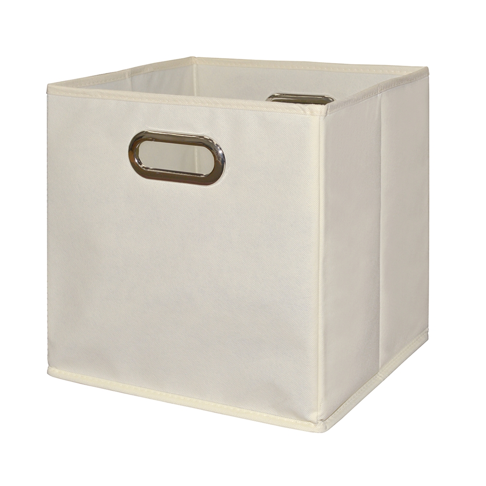 Cubo Storage Set - 2 Cubes and 1 Canvas Bin- Truffle/Natural. Picture 3