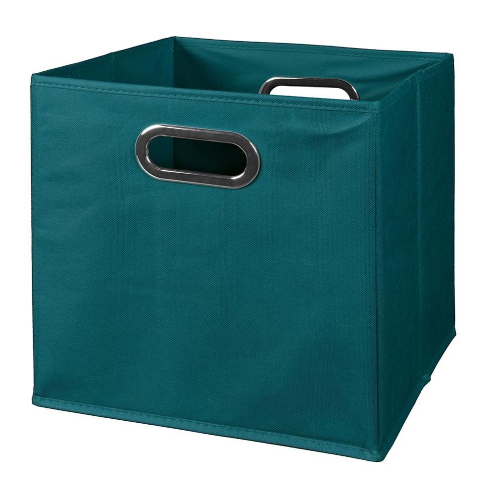 Cubo foldable fabric storage bin teal for Teal bathroom bin