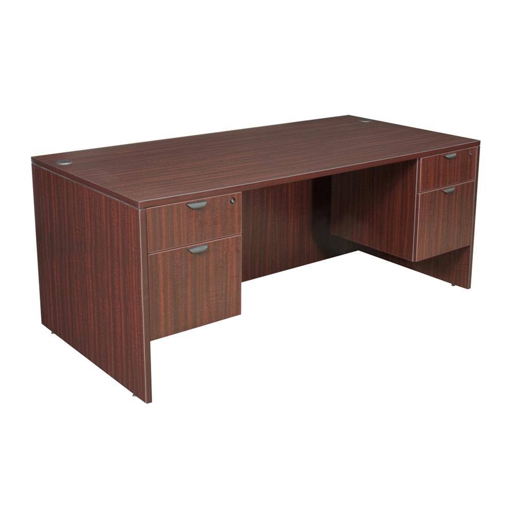 Legacy 71 Quot Double Pedestal Desk Mahogany