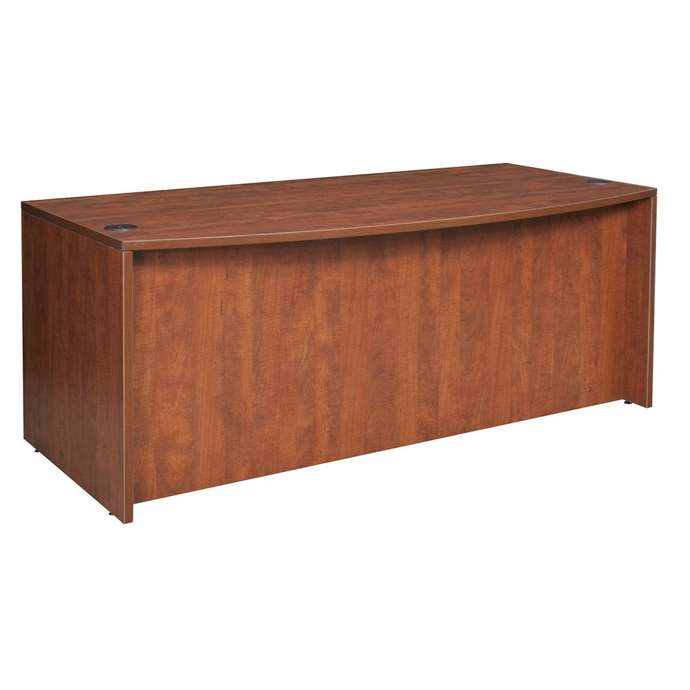 "Legacy 71"" Bow Front Double Pedestal Desk- Cherry. Picture 2"