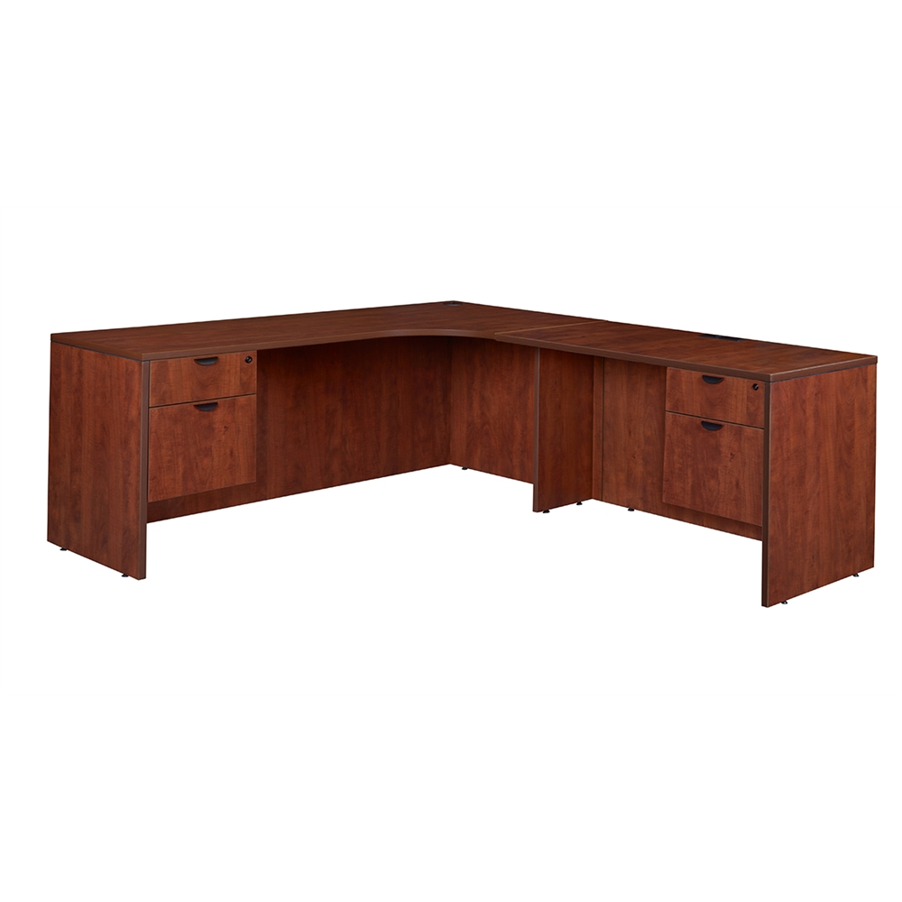 Single Pedestal Desk With Hutch